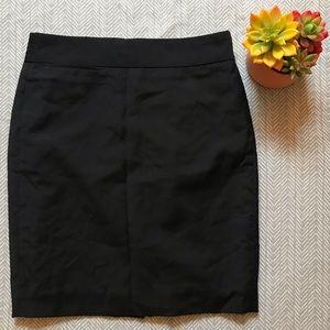 J. Crew Black Pencil Skirt with Pocket